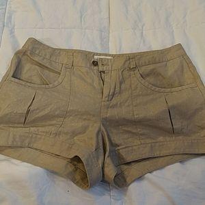 Calvin Klein Khaki Metallic Shorts